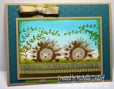 Painted Harvest Hedgehogs – Stampin' Up! Card