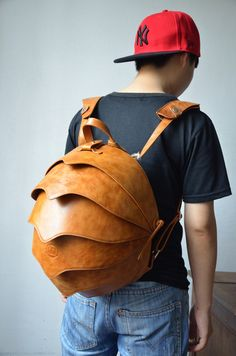 Leather Backpack for man or woman Beetle Bag by KiliDesign on Etsy, $375.00