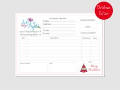 Christmas Fairs Receipt Book - Personalised Order book - Christmas Edition - Petty cash - Office supplies - A6 Size - Office supplies by InkonPaperDesign on Etsy https://www.etsy.com/uk/listing/544165428/christmas-fairs-receipt-book