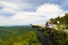 Hike to places like Dragon's Tooth or McAfee's Knob (pictured).