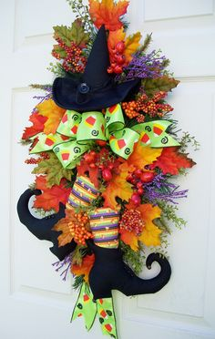 Halloween Witch Swag http://www.timelessfloralcreations.com/ https://www.facebook.com/timelesswreaths
