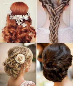 Wedding hairstyles must be perfect, to complete the rest of your look on the big day. Take a look at our wedding hairstyles ideas and opt for what is resonating with your taste. Wedding Hairstyles For Long Hair, Fancy Hairstyles, Bridal Hairstyles, Beautiful Hairstyles, Wedding Hairdos, Hairstyles Haircuts, Hair Styles 2014, Long Hair Styles, Vintage Wedding Hair