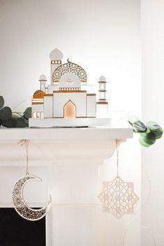 Ramadan Decorations, Handmade Decorations, Light Decorations, Moroccan Lighting, Moroccan Lanterns, Cute Tshirt Designs, Ramadan Lantern, White String Lights, Ramadan Gifts