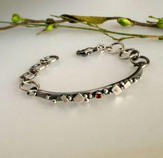Sterling Silver Bracelet w/Fire Citrine Bonnie Hedden Designs