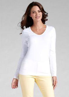 Basic Baumwollshirt Stretch-Jersey, bpc bonprix collection