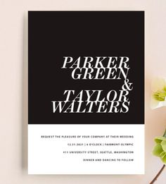 20 Minimal Wedding Invitations - Slanted Invite from Minted - Destination Wedding Themes, Beach Wedding Invitations, Wedding Stationery, Card Box Wedding, Wedding Thank You Cards, Wedding Paper, Script Font Style, Wedding Chair Signs, Invitation Wording