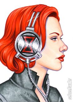 Beats by Natasha - Scott Blair Marvel Art, Marvel Heroes, Marvel Characters, Natalia Romanova, Acid Rock, Art Beat, Sketch Markers, Copic Markers, Black Widow Marvel