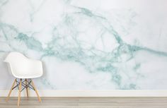 Create a uniquely elegant space in your home with our White and Green Marble Wallpaper Mural. This design is a gorgeous twist on what the usual colors we imagine when thinking of traditional marble – the infusion of. Teal Marble Wallpaper, Bathroom Wallpaper, New Wallpaper, Textured Wallpaper, Green Marble, Gold Marble, White Marble, Pastel Clouds, Color Menta
