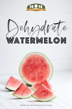 Overloaded with the yummy goodness of watermelon this summer? Learn to make watermelon candy! Easily Dehydrate Watermelon - see how @ Mom with a PREP Dehydrated Watermelon, Dehydrated Strawberries, Dehydrated Apples, Dried Strawberries, Dehydrated Food, Dried Fruit, Air Fryer Oven Recipes, Air Fryer Dinner Recipes