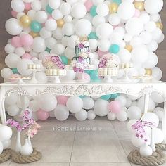 Clouds of prettiness  Pretty and sweet just like the girl it's for... Isabella's 13th birthday @isabella_khoury  Styling @hope_creations_marynehme  Rope @hope_creations_marynehme Venue @elphoenician  Florals @crazyaboutflowers  Table and cake stands @stylish.touch  Balloons @floating.designs  Vases @maryronisevents  Desserts @style_it_sweet_by_louise  Frame @sealedwithloveco #pretty #birthdayparty #hopecreations #partyblogger #partyideas #balloonwall #prettyparty #event #sydneyevents