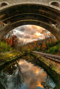 This is an image taken from a spot under a bridge in the Wissahickon Valley Park in Philadelphia, PA. You can see the full gallery here: www.danielhofman.com