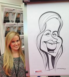 XL caricatures at Olympia, London