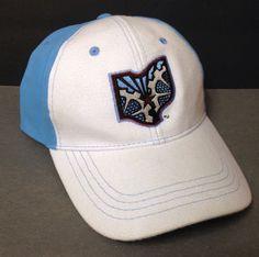 OHIO MACHINE LACROSSE HAT White Light Blue State Outline Logo MLL men/women OSFM #Unbranded #BaseballCap