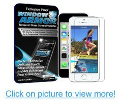 Window Armor iPhone 5/5s/5c - Scratch Proof, Premium Tempered Glass Screen Protector with Anti-Fingerprint Coating
