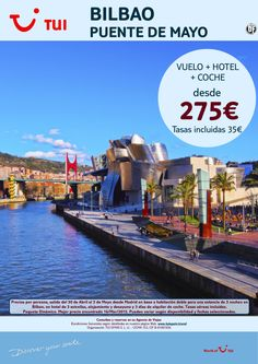 ¡Nuestra selección SMART a Bilbao! Puente de Mayo Vuelo+Hotel+Coche. Precio final desde 275€ ultimo minuto - http://zocotours.com/nuestra-seleccion-smart-a-bilbao-puente-de-mayo-vuelohotelcoche-precio-final-desde-275e-ultimo-minuto-3/