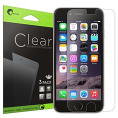 iPhone 6 Screen Protector , [Ultra HD Clear] i-Blason Apple iPhone 6 4.7 inch Screen Protector - 3 X Pack Premium i-Blason http://www.amazon.com/dp/B00M10GWWM/ref=cm_sw_r_pi_dp_-ELiub1JE0PN9