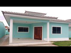 CASA COM 3 QUARTOS E CHURRASQUEIRA EM ITAIPUAÇU - YouTube House Paint Exterior, House Painting, House Colors, House Plans, Garage Doors, Shed, Outdoor Structures, Patio, Outdoor Decor