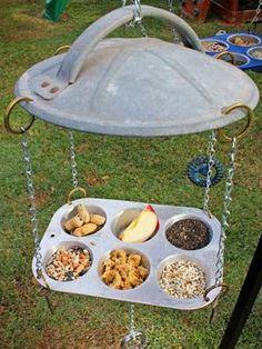 DIY Muffin Pan Bird Feeder - PetDIYs.com