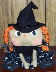 Ima Good Witch    Sweet and Simple, Ima is a must have for any Annie Collection.  Perfect for Halloween, autumn or indeed any season.  Approximately 18 inches tall.    To print see instructions on Printing Instructions page.    Click on this link to view a larger picture Ima Good Witch         If you are using any of these patterns to create something for a child,    please read this first.  Childproofing Patterns