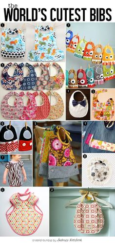 The world's cutest bib tutorials!