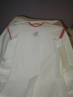Newborn Boy scottie dog Embroidered Daygown