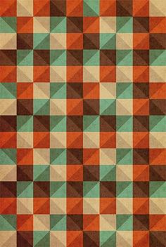 squares, triangles, colorful, happy pattern ^^