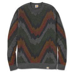 46f44f7990d Carhartt WIP Jerry Sweater - Surge Print Dark Grey Heather