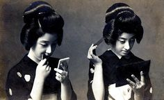 Putting on Make-up and Fixing their Hair 1920s by Blue Ruin1, via Flickr