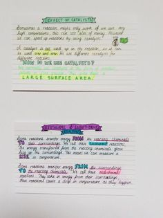 "the-student-spot: ""Requested // more close ups and extra pictures of chemistry revision cards for AQA And yes I did colour in my banners since before I didn't 💁🏽✨ "" Chemistry Revision, Chemistry Notes, Aqa, Close Up, Banners, It Cast, Study, Tumblr, Colour"