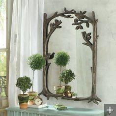 perching birds mirror