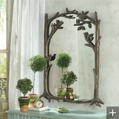 perching birds mirror would go lovely in the bedroom with the tree bedstead