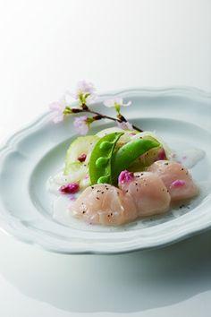 お祝いにも♪ホタテと春野菜の桜パッチョ by トキワ [クックパッド] 簡単おいしいみんなのレシピが232万品