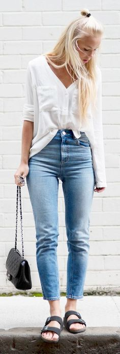 Birk And Jeans Casual Outfit