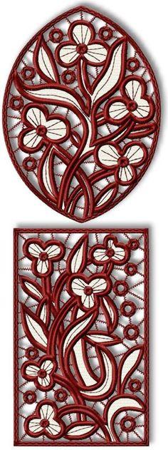 Advanced Embroidery Designs - Trillium Cutwork Lace Set