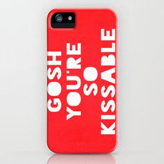 #Society6                 #iPhone Case              #Gosh #(Kissable) #iPhone #Case #Rachel #Burbee #Society6                     Gosh (Kissable) iPhone Case by Rachel Burbee | Society6                                                 http://www.seapai.com/product.aspx?PID=1710015