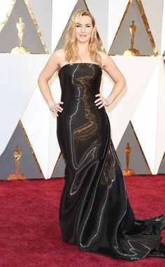 Kate Winslet from Worst Dressed at the 2016 Oscars  This subtly reflective number is a surprising choice for the always flawless actress. Tonight the look fell flat having nothing really special to offer the star.