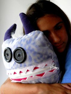 GIANT Cuddle Monster Pillow Pal TUTTI FRUTTI by MostlyMonstersCV, $40.00