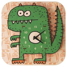 Dinosaur Clock.  There are too many fun ones to pin!