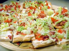 BLT Ranch Pizza - Pampered Chef recipe