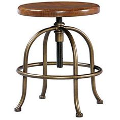Classics 4.0 Adjustable Height Stool with Wooden Seat & Metal Legs by Smartstuff - Wayside Furniture - Children's Chair Akron, Cleveland, Canton, Medina, Youngstown, Ohio