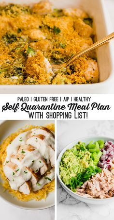 Healthy 14 Day Quarantine Meal Plan (with Shopping List!) - Unbound Wellness - Paleo & AIP Self Quarantine Meal Plan – Unbound Wellness - Paleo Meal Plan, Meal Prep, Clean Eating, Healthy Eating, Family Meals, Group Meals, Paleo Recipes, Meal Planning, Lunch
