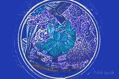 Proiezione floreale nella lente dell'infinito è il dominio della Natura sul pianeta Terra, in una visione proiettata verso l'infinito