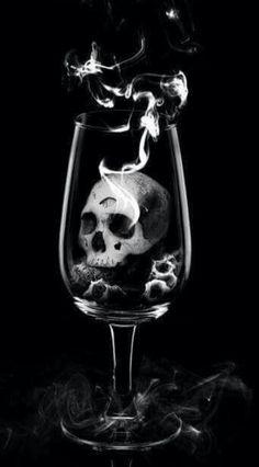 Skull in a Wine glass