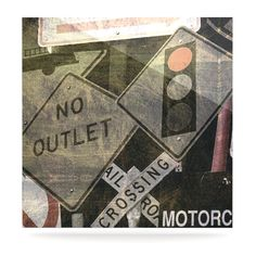 """Heidi Jennings """"City Outing"""" Urban Signs Luxe Square Panel"""