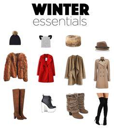 """Winter Essentials"" by dillia-ulysse on Polyvore featuring ASOS, Chicwish, Naughty Monkey, Wallis, Liliana, MANGO, Soda, Jennifer Ouellette, Eugenia Kim and Warehouse"
