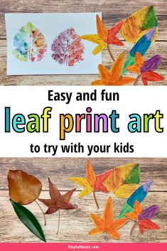 This leaf print art activity is an easy and creative way to play with leaves that you can quickly prepare after a fall walk. - Fall activities for kids