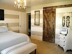 Remodelaholic   Master Bedroom Makeover with Sliding Barn Door