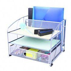 #MedicalEquipmentOrganization Hanging File Organizer, File Organiser, School Desk Organization, Desktop File Holder, Small Office Desk, Office Files, Neon Room, School Desks, Hanging Files