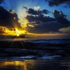 Beautiful sunset in Ocean Beach