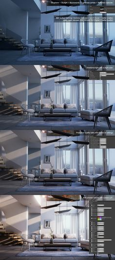 Architectural visualization study in UE4, realtime with baked lighting. Edit: Many of you asked for a breakdown, it is now added at the bottom. Links: https://www.unrealengine.com/blog/simulating-area-lights-in-ue4 https://moritzweller.wordpress.com/20